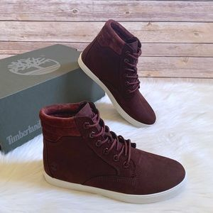 Timberland Burgundy Dausette Sneaker Boots